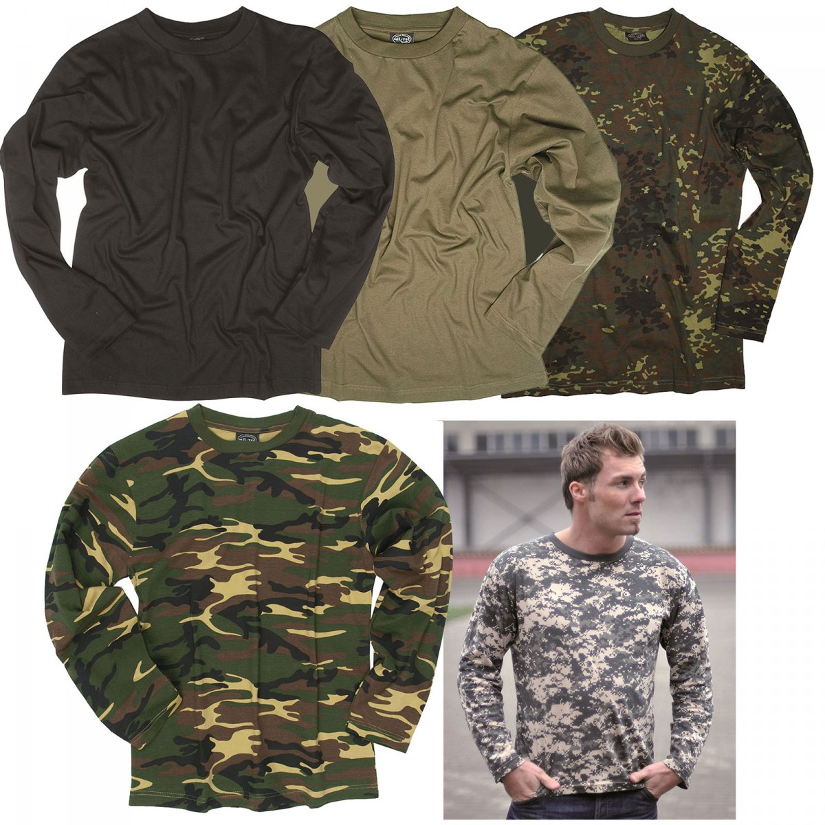 us army langarmshirt s 3xl tarn t shirt langarm longsleeve. Black Bedroom Furniture Sets. Home Design Ideas