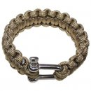 Armband PARACORD 23 mm Metallver., coyote