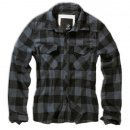 BRANDIT Check Shirt black-grey