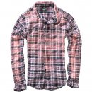 BRANDIT Parkland Wire Shirt red-blue checked, M