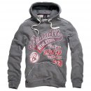 Hood-Sweatshirt Classic Mountain, I RED grau, S