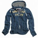 SURPLUS Hoodie Embroidery mit Zipper, navy-blau