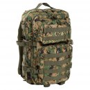 US Rucksack ASSAULT Pack II large, digital woodland