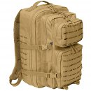 US Rucksack ASSAULT large LASER CUT coyote