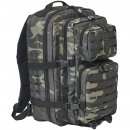 US Rucksack ASSAULT large LASER CUT darkcamo
