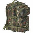 US Rucksack ASSAULT large LASER CUT flecktarn