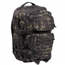 US Rucksack ASSAULT large LASER CUT multitarn black