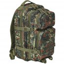 US Rucksack ASSAULT small LASER CUT flecktarn