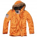Vintage Explorer Parka Stars & Stripes orange M
