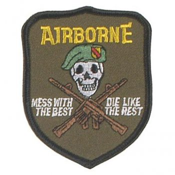 Abzeichen US Airborne - mess with the best