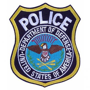 Abzeichen US Police Department of Defence