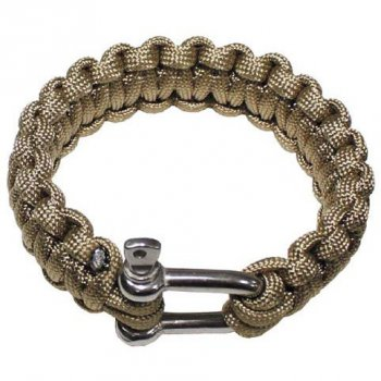 Armband PARACORD 23 mm Metallver., coyote, S