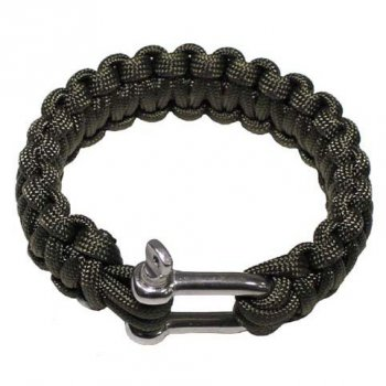 Armband PARACORD 23 mm Metallver., oliv