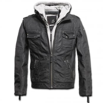 BRANDIT Black Rock Leather Jacket grau