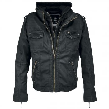 BRANDIT Black Rock Leather Jacket schwarz