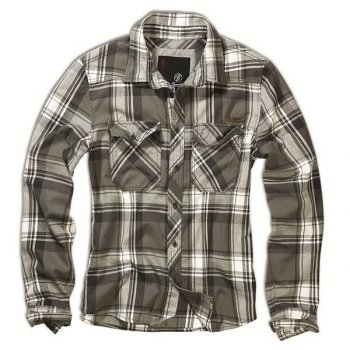 BRANDIT Check Shirt oliv