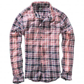 BRANDIT Parkland Wire Shirt red-blue checked, XXL