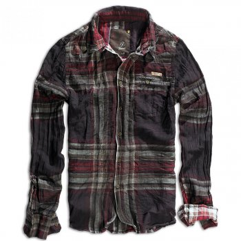 BRANDIT Raven Wire Shirt choco-red checked, XXL