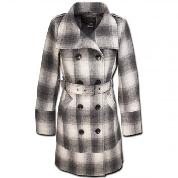 BRANDIT Rockaway Coat grey checkered, XL