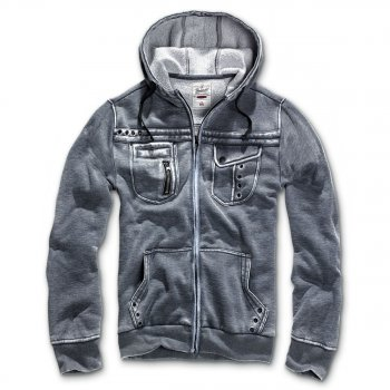 BRANDIT Rudy Sweatjacket anthrazit, S