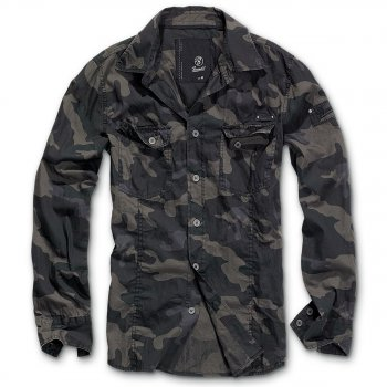 Slim Fit Shirt darkcamo, M