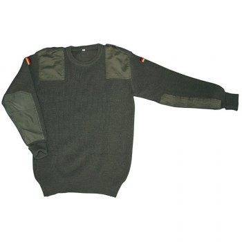 BW Pullover Baumwolle oliv, 50/52 (M)