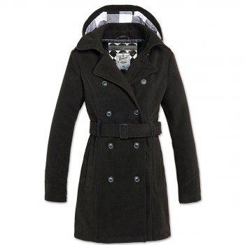 Brandit Girls Coat Wollmantel schwarz