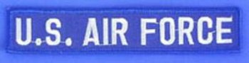 Bruststreifen US Air Force blau