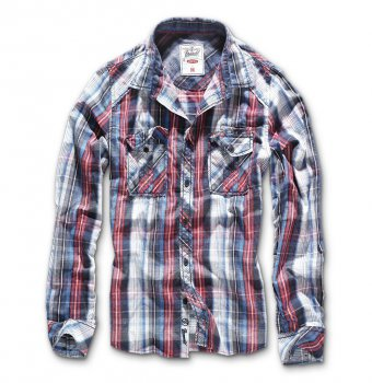 Central City Checkshirt navy-weiß