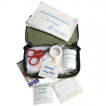 First Aid Kit small oliv