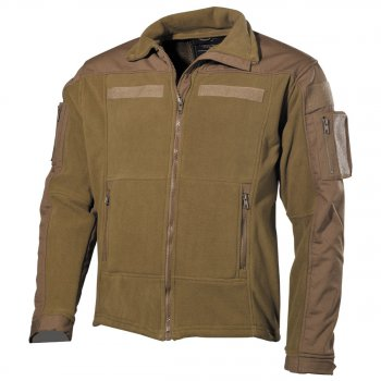 Fleece-Jacke COMBAT coyote