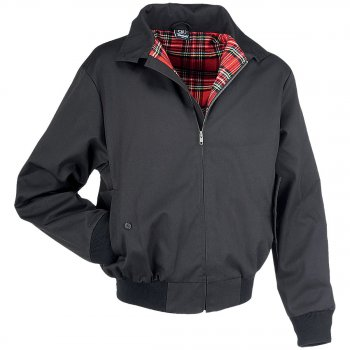 Harrington Jacke English Style schwarz, L