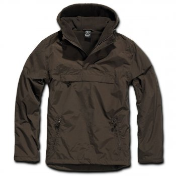 Hooded Windbreaker,braun, XXL