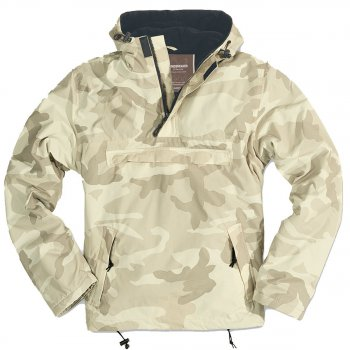 Hooded Windbreaker, desert storm, XXL