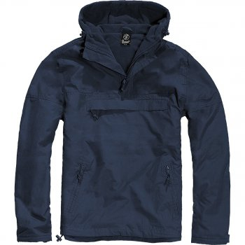 Hooded Windbreaker navy-blau