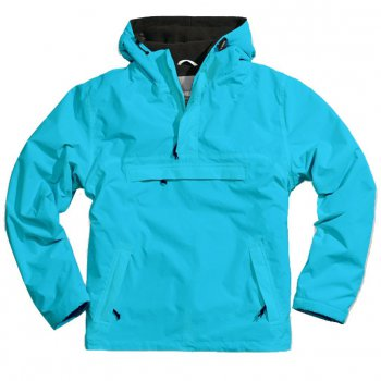 Hooded Windbreaker petrol, M