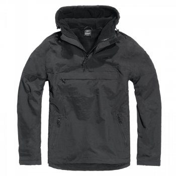 Hooded Windbreaker, schwarz, 5XL