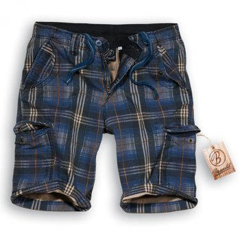 Iron Shorts darkblue checkered, S