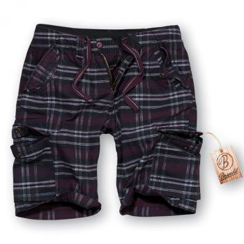 Iron Vintage Shorts purple checkered S