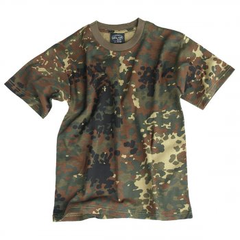 Kinder T-Shirt, flecktarn, XXL