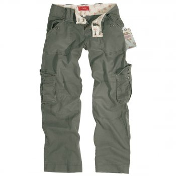 Ladies Vintage Trouser oliv washed