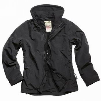 Ladies Windbreaker mit Zipper schwarz
