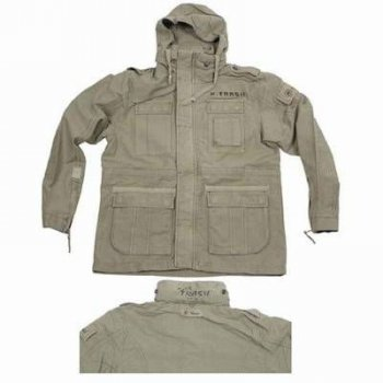 PURE TRASH Feldjacke SPEED, hell-oliv