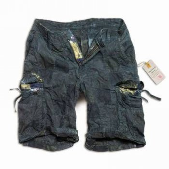 SURPLUS Checkboard Shorts, navy blau, S