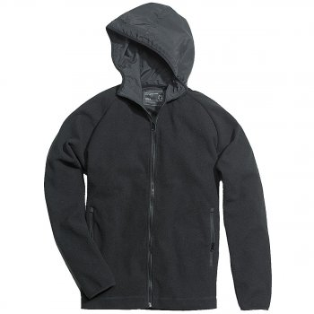 SURPLUS Fleece Hoodie Jacket schwarz, S