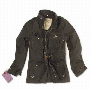 Ladies M65 Jacke schwarz washed, 34