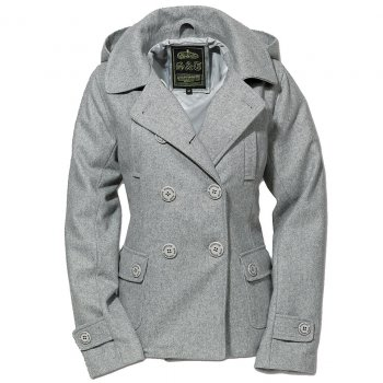 SURPLUS Ladies Pea Coat grau