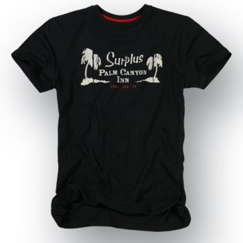 SURPLUS Palm Tee, schwarz