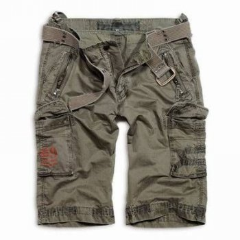 SURPLUS Royal Cargo Shorts oliv washed