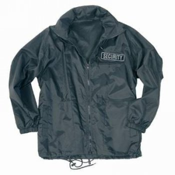 Security Windbreaker schwarz, M